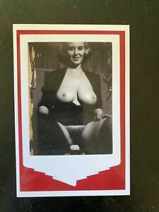 1950's Vintage Nude Photo~Large  Big Breasts Perfect Body Curvaceous Risque Pose
