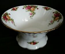ROYAL ALBERT OLD COUNTRY ROSES LARGE FOOTED FRUIT OR SALAD BOWL RARE MINT