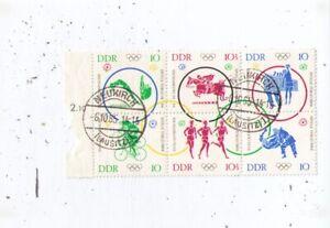 DDR, Olymp.Spiele, Sechserblock, gestempelt, Nr. 1039- 1044