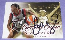 Cynthia Cooper Signed 2000 Wnba Fleer Skybox Dominion Collection Card #3 Comets