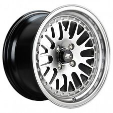 MST Wheels MT10 Rims 15x8 4x100 +20 Offset Stepped Lip Hyper Black Gunmetal NEW