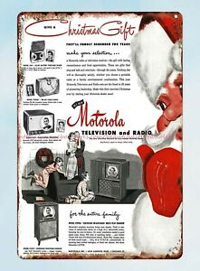 Motorola Television and Radio 1949 metal tin sign country kitchen decor