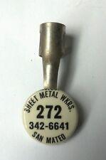 Vintage Sheet Metal Workers local 272 Pencil Pen Pocket Clip