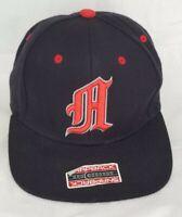 Vintage Adidas Climalite Casual Black/ Red Baseball Snapback Hat Cap fs