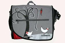 NEW ~ BNIB Baby Nappy Bag Change Mat Grey Red Bird Design ~ Little Beetle ~ GIFT