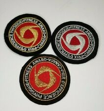 CANADA FITNESS AWARD of EXCELLENCE Set of 3 Gold Silver Bronze Badges