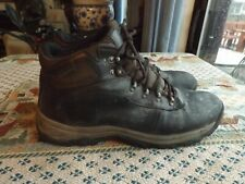 Ozark Trail leather & man made Men's Mid Height Hiking Work Boots Black Sz 12