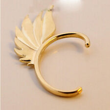 Vintage Jewelry Unisex Wing Shape Punk Gothic Ear Cuff Clip Stud Earring 1pcs Golden