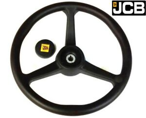 Genuine Jcb Steering Wheel With Knob (Part No. 125/34900 125/35000)