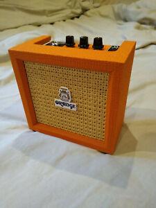 Orange Micro Crush Battery Powered Practice Amp 9v Electric Guitar