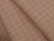 Soft Pink Check Brushed Winter Cotton Twill Fabric -Smocking 144cmx per 1/2mtr