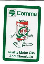 COMMA MOTOR OILS/CHEMICALS X 1 ONLY SGL.VINT.PLAYING/SWAPCARD..