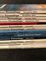 12 Months Proceedings Naval Magazines 1971