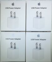 OEM Authentic Apple 5W USB Power Adapter Charger Wall Plug Cube for iPhone iPod