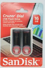 SanDisk Cruzer Dial USB Flash Drive - 2 Pack - 16 GB - BRAND NEW