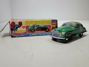 The Amazing Spider-Man Classic Schylling Tin Friction Car Orig. Cond. 2005