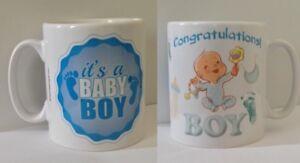Baby Boy Mug - It's A Baby Boy. Baby Gift Ideas. New Born Baby Boy Mugs