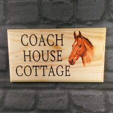 Large Horse Plaque / Sign - Door House Name Number Cottage Stable Pony Farm