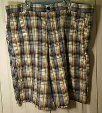 Alan Flusser Men Plaid Golf Shorts Pants Size 42