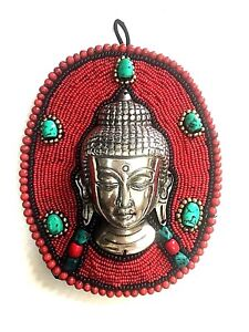 Budhha Head on beads Wall hanging Protection From Fear