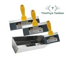 Drywall Taping And Finishing Taping Knife Set 61012 Blue Steel 12 Mud Pan