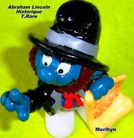 20506 Schtroumpf historique Abraham Lincoln smurf pitufo puffo puffi  macau 1984
