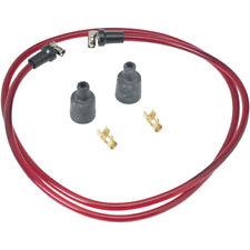 Vintage Rajah Red Translucent 7mm Cloth Spark Plug Wire Sets harley sportster