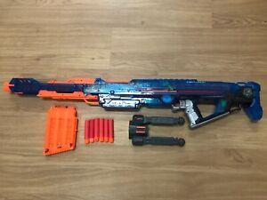 Nerf N-Strike Elite Sonic Ice Blue Mega Centurion Blaster 6 Dardos Incompleto