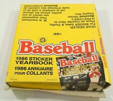 1986 OPC Baseball Sticker Album Box of 12 Unused Albums ^ Rose Cover O-Pee-Chee