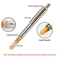 Stainless Steel Slight Pain Blood Lancing Pen Cupping Acupuncture Massage Tool