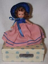 Vintage #163 Miss Donnet Bisque Nancy Ann Storybook Doll Blue Polka Dot Box