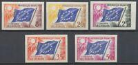 1959 France SERVICES du N°17 à 21 Non dentelés Neufs luxe** COTE 535€ D1466