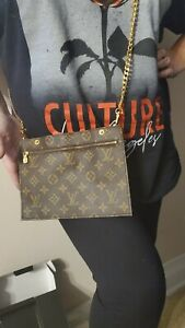 Louis Vuitton Monogram Randonnee Large GM Pouch WOC Cosmetic Case Bag Crossbody