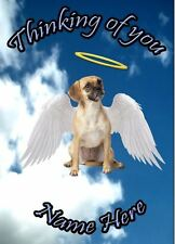 Puggle  Dog Personalised Card Sympathy Thinking Of You A5 Codehd