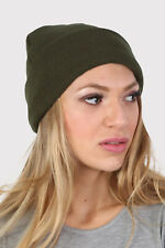 Plain Knitted Beanie Hat    UK Made