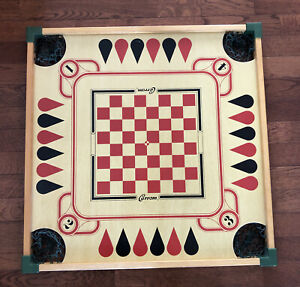 Vintage Carrom Game Board Wall Art Deco Without Playing Pieces