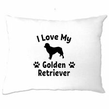 Dog Owner Pillow Case I Love My Golden Retriever Pet Lover Cute Breed
