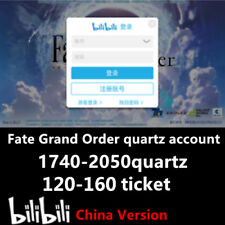(BiliBili Android Server) Fate Grand Order Account 1740-2050quartz 120-160ticket