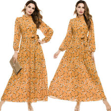 Women's Floral Long Sleeve Maxi Dress Casual Spring Cocktail Party Fashion Robe