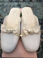 Patricia Green Giselle White Slippers House Shoes Sz 8