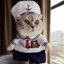 Pet Sailor Costume Outfit Clothes Dog Cat Small Animals Fun Dress Up Party