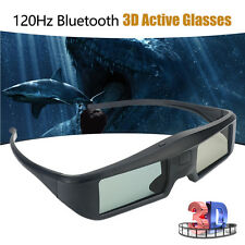 120Hz Bluetooth 3D Active Shutter Glasses USB Chargeable For Sony Samsung 3D TV