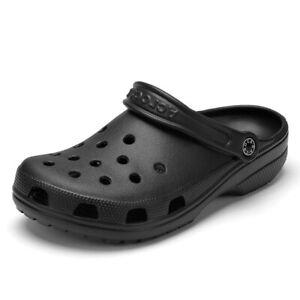 Men Sandals Crocks Summer Hole Shoes Rubber Shoes Beach Flat Sandals Slippers