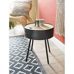 Modern Black Tribal End Side Coffee Table Home Furniture, Storage, Organisation