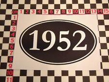 1952 Year Sticker - Zephyr Consul Daimler Conquest A99 Austin Somerset Birthday