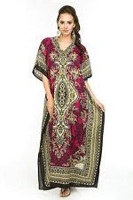 Ladies Kaftan Dashiki BEACHWEAR African Paisley Summer Dress plus  SALE PURPLE
