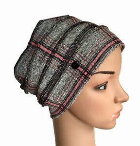 HEADWEAR FOR HAIR LOSS, IDEAL OUTDOOR LAYERED LINED HAT, CHEMO, ALOPECIA,CANCER