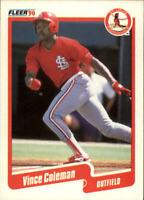 1990 Vince Coleman Fleer Baseball Card #245