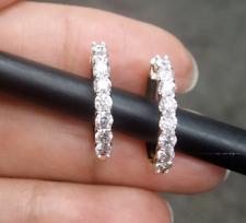 STEAL DEAL! 1.00 Carat Natural Round Diamonds Hoops Huggies Earrings in 14k Gold