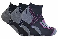 3 Pack Ladies Breathable Summer No Sweat Padded Sports Short Ankle Cycling Socks